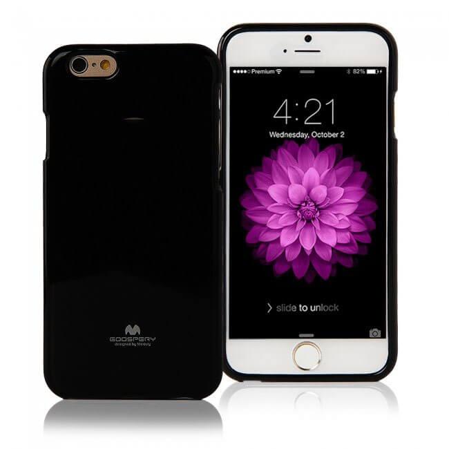 MERCURY JELLY obal (bez výrezu na logo) Apple iPhone 6 / 6S čierny