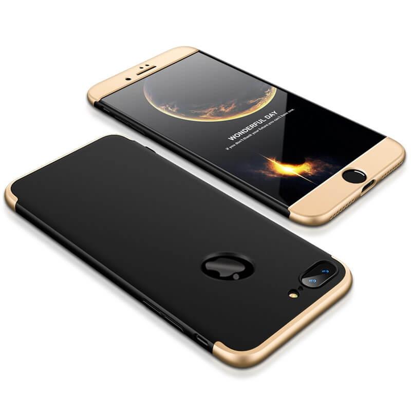 FORCELL 360° Ochraný obal Apple iPhone 7 Plus / iPhone 8 Plus čierno-zlatý