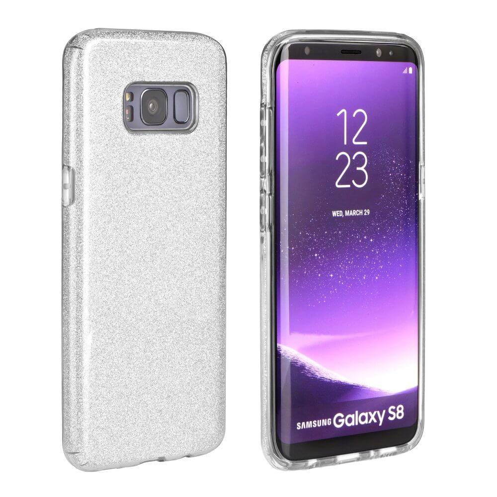 SHINING Ochranný obal Samsung Galaxy S8 Plus strieborný