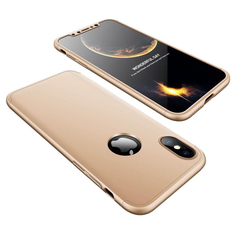 FORCELL 360° Ochranný obal Apple iPhone X   XS zlatý 1d619e5511b