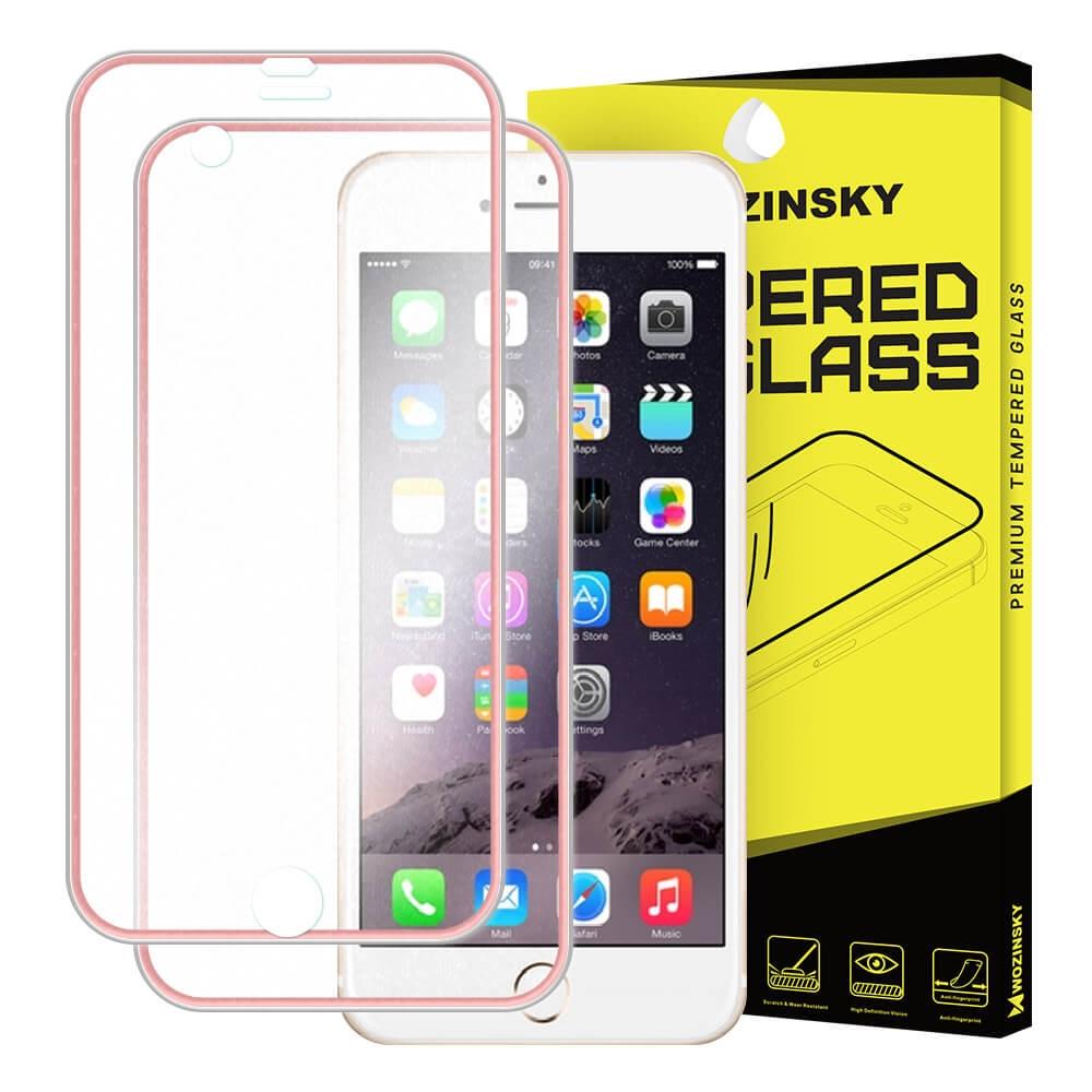 FORCELL 3D METALLIC tvrdené sklo predné+zadné Apple iPhone 6 Plus / 6S Plus ružové