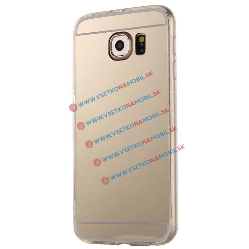 FORCELL Zrkadlový silikónový obal Samsung Galaxy S6 Edge Plus zlatý