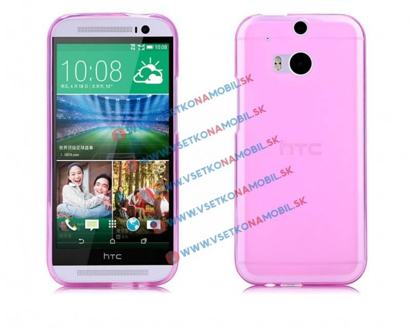 FORCELL Silikónový obal HTC One M8 ružový