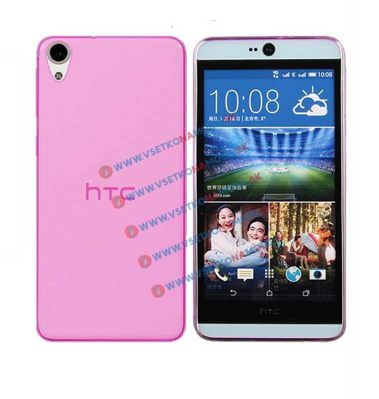 FORCELL Silikónový obal HTC Desire 820 ružový