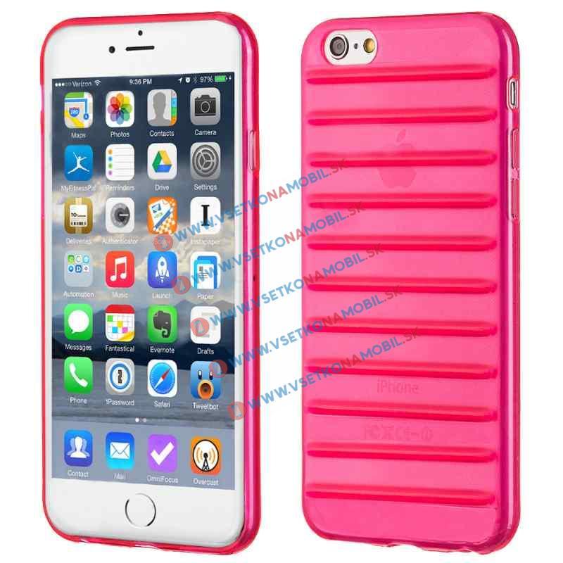 FORCELL STRIPES Silikónový obal Apple iPhone 6 / 6S ružový