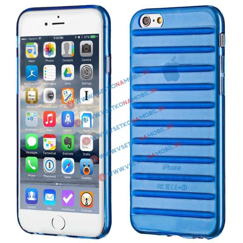 FORCELL STRIPES Silikónový obal Apple iPhone 6 / 6S modrý (navy blue)