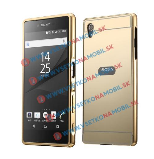 Zrkadlový obal Sony Xperia M4 Aqua zlatý