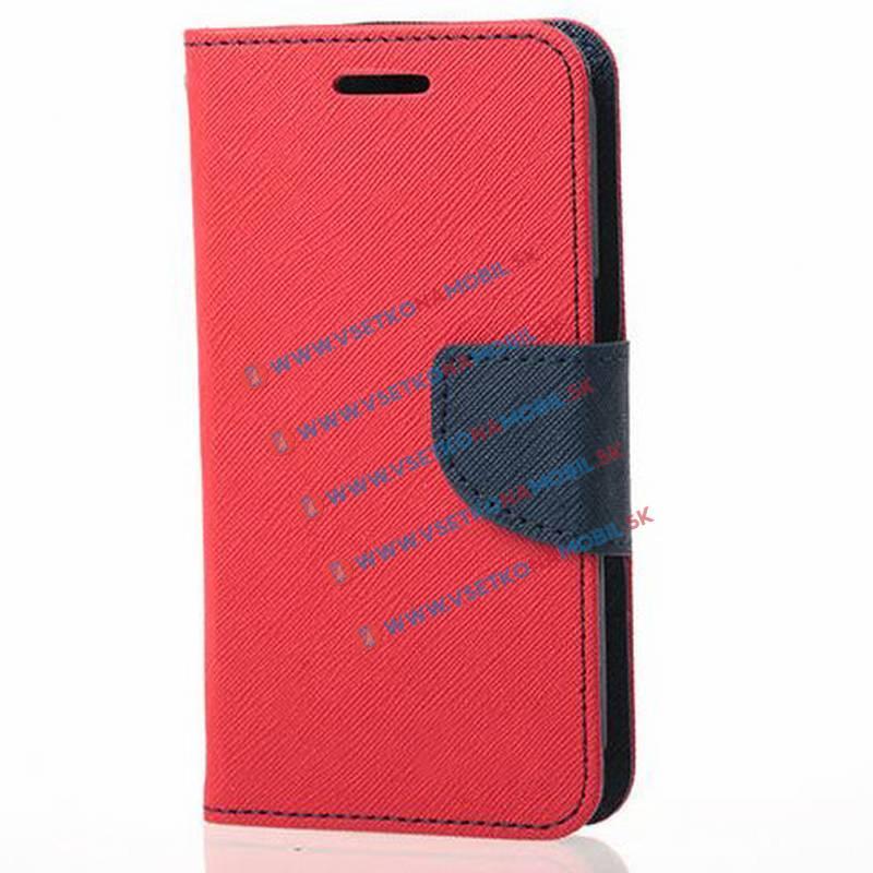 Peňaženkové flip púzdro LG K10 červené