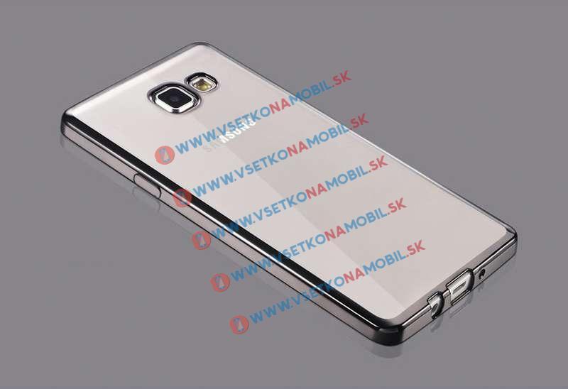 FORCELL METALLIC Silikónový obal Samsung Galaxy A3 2016 čierny