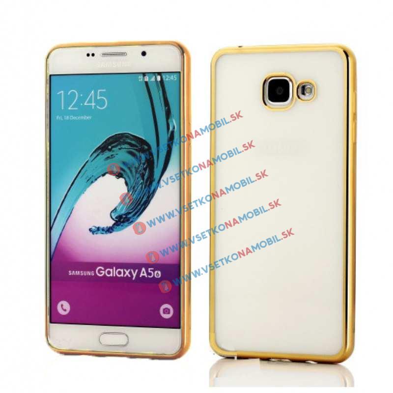 FORCELL METALLIC Silikónový obal Samsung Galaxy A5 2016 zlatý