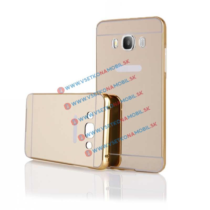 FORCELL Ochranný zrkadlový obal Samsung Galaxy J5 2016 zlatý