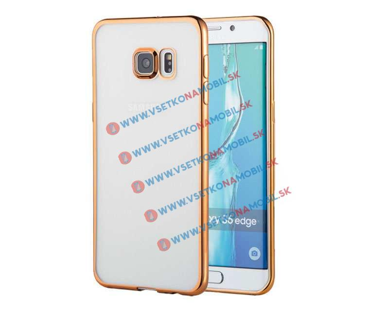 FORCELL METALLIC TPU obal Samsung Galaxy S6 Edge zlatý