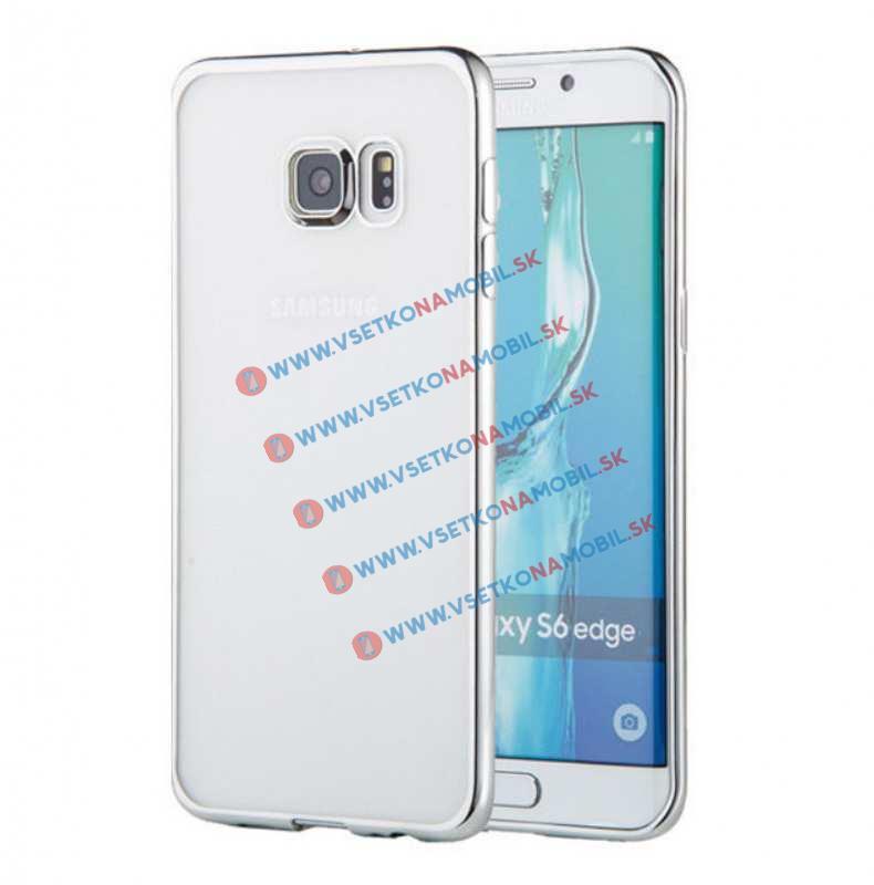 FORCELL METALLIC TPU obal Samsung Galaxy S6 Edge strieborný