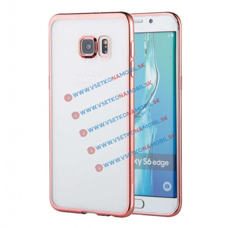 FORCELL METALLIC TPU obal Samsung Galaxy S6 Edge ružový