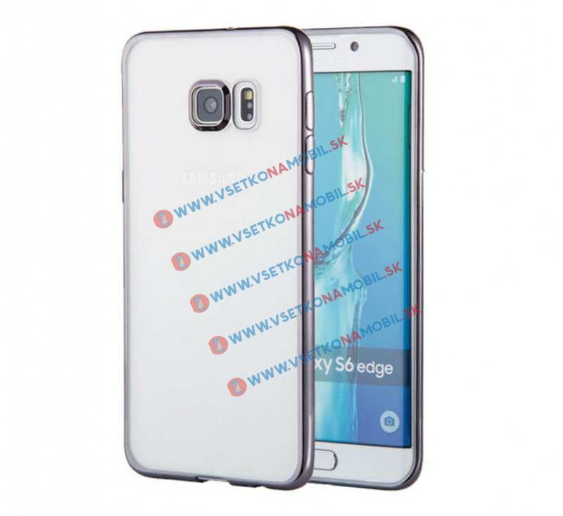FORCELL METALLIC TPU obal Samsung Galaxy S6 Edge čierny