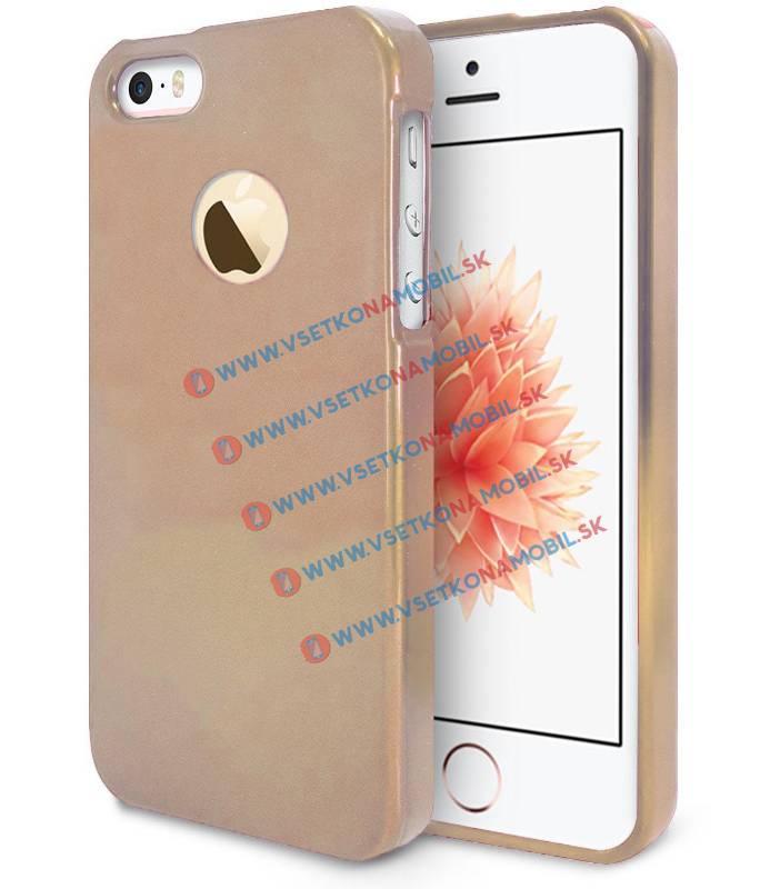 FORCELL Gumený kryt Apple iPhone 5 / 5S / SE zlatý