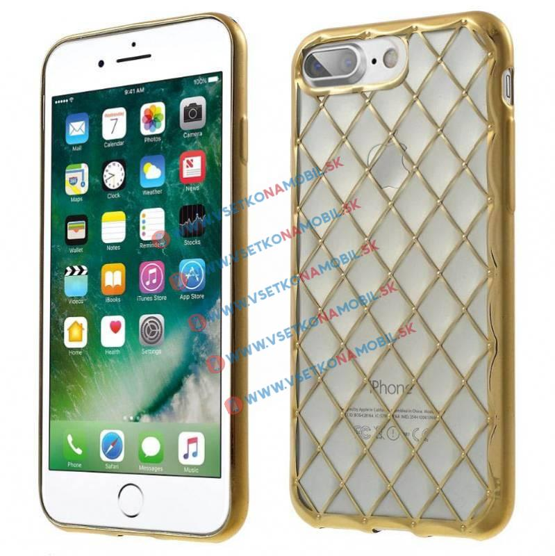 FORCELL LUXURY Silikónový obal Apple iPhone 7 Plus zlatý