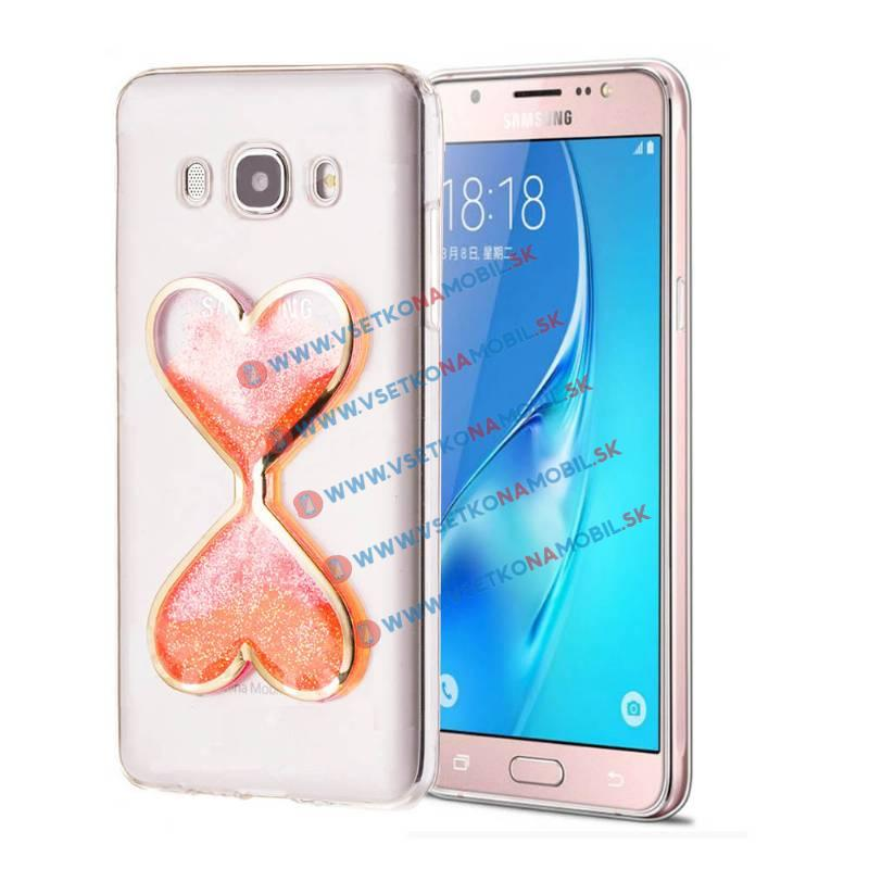 FORCELL Silikónový obal Samsung Galaxy J5 2016 HEART oranžový