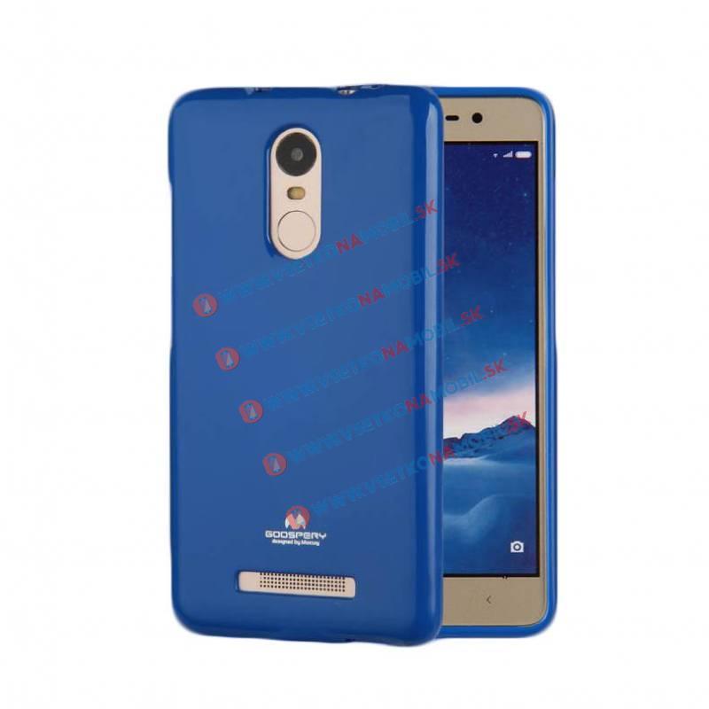 MERCURY Gumené púzdro Xiaomi Redmi Note 3 modré