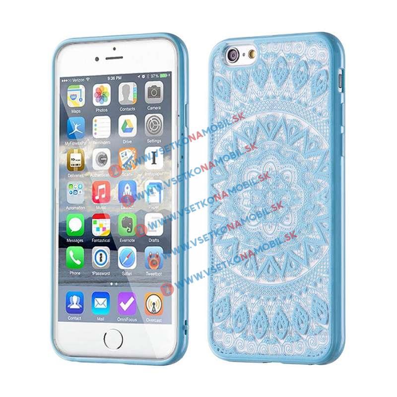 FORCELL HENNA TATTOO silikónový obal Apple iPhone 6 / 6S modrý