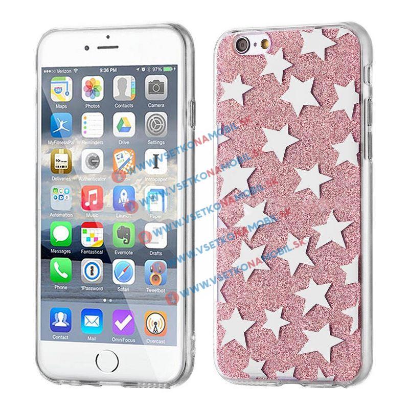 FORCELL SHINY STARS Ochranný kryt Apple iPhone 6 / 6S ružový