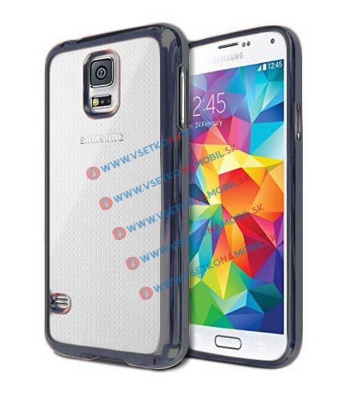 FORCELL METALLIC Silikónový obal Samsung Galaxy S5 čierny