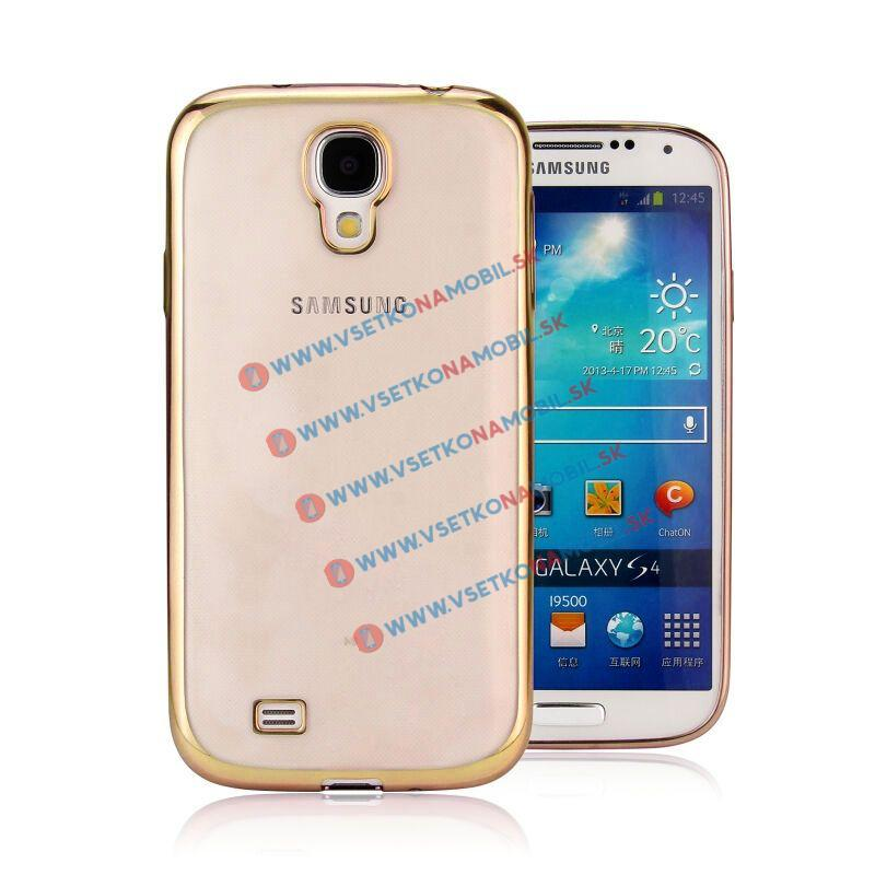 FORCELL METALLIC Silikónový kryt Samsung Galaxy S4 zlatý