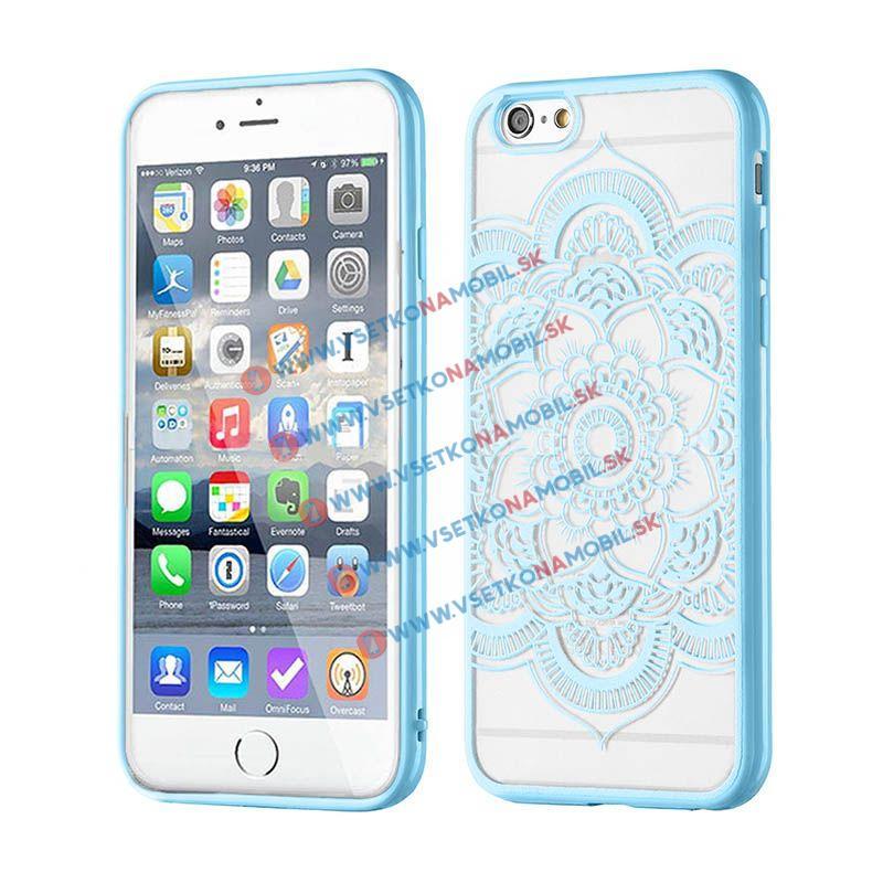FORCELL HENNA LOTUS silikónový obal Apple iPhone 6 / 6S modrý