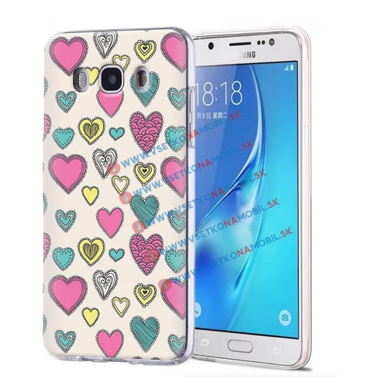 FORCELL ART Silikónový obal Samsung Galaxy J5 2016 HEARTS