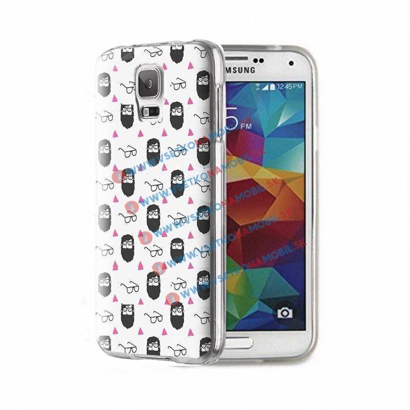 FORCELL ART Silikónový obal Samsung Galaxy S5 BEARD