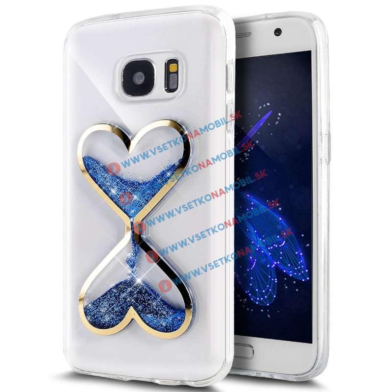 HEART TPU Obal Samsung Galaxy S7 modrý