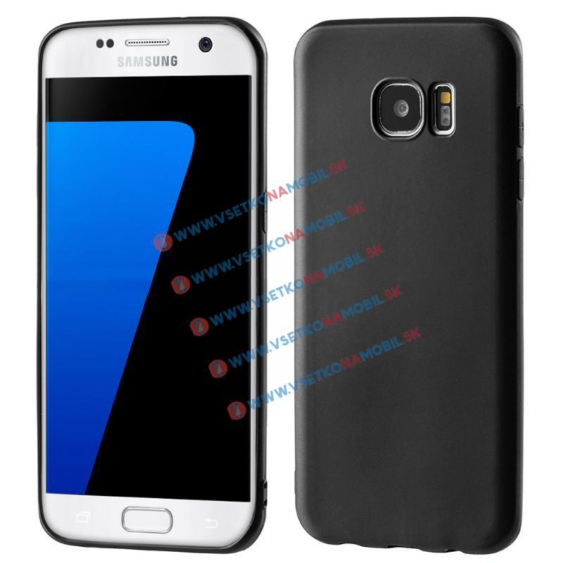 MATTE TPU Obal Samsung Galaxy S7 Edge čierny