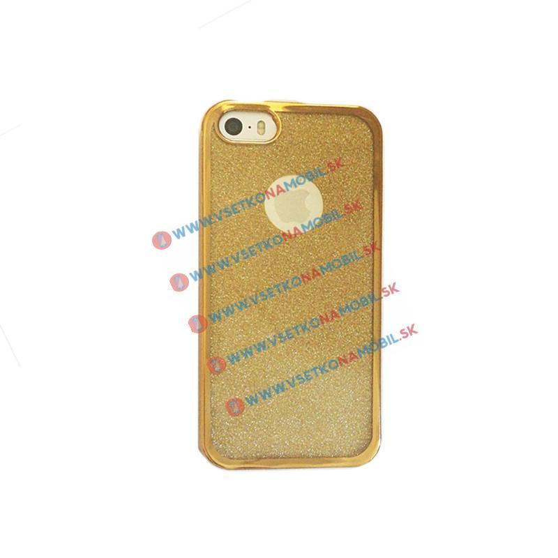 FORCELL GLIT TPU Obal Apple iPhone 5/5S/5SE zlatý