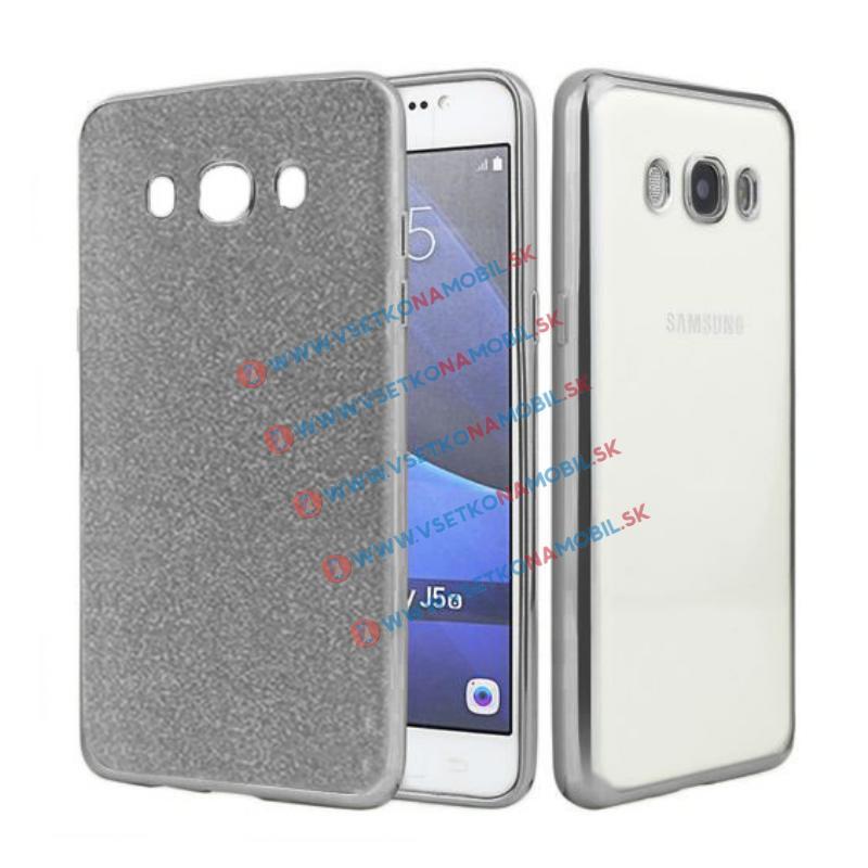 FORCELL GLIT Silikónový obal Samsung Galaxy J5 2016 (J510) čierny