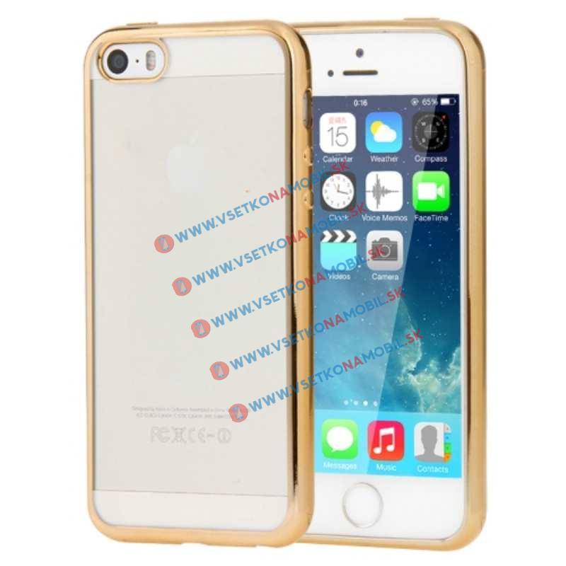 FORCELL Luxusný ochranný obal Apple iPhone 5S zlatý