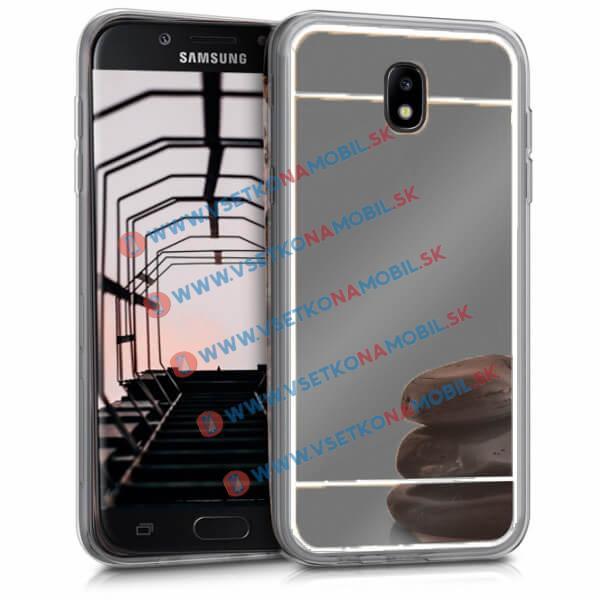 FORCELL Zrkadlový silikónový obal Samsung Galaxy J5 2017 (J530) čierny