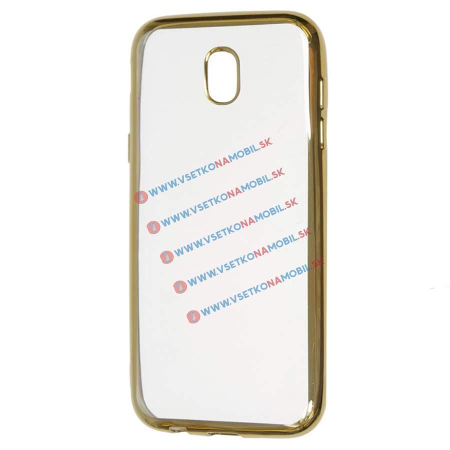 FORCELL METALLIC Silikónový obal Samsung Galaxy J7 2017 (J730) zlatý