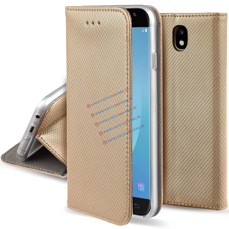 FORCELL MAGNET Peňaženkový obal Samsung Galaxy J7 2017 (J730) zlatý