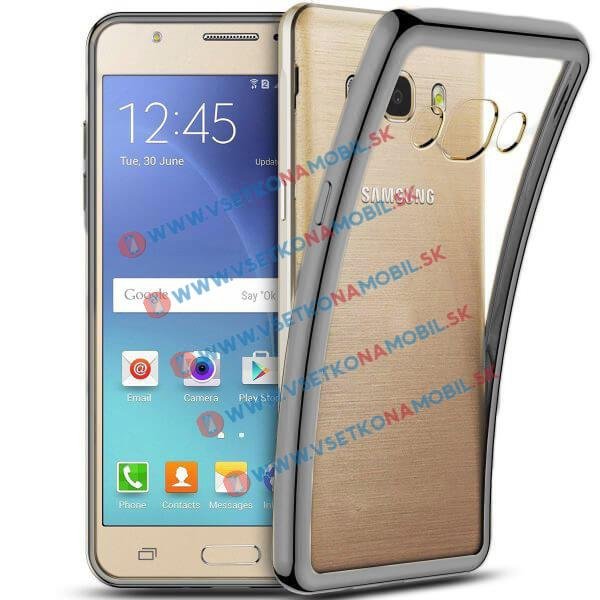 FORCELL METALLIC Silikónový obal Samsung Galaxy J5 2016 čierny