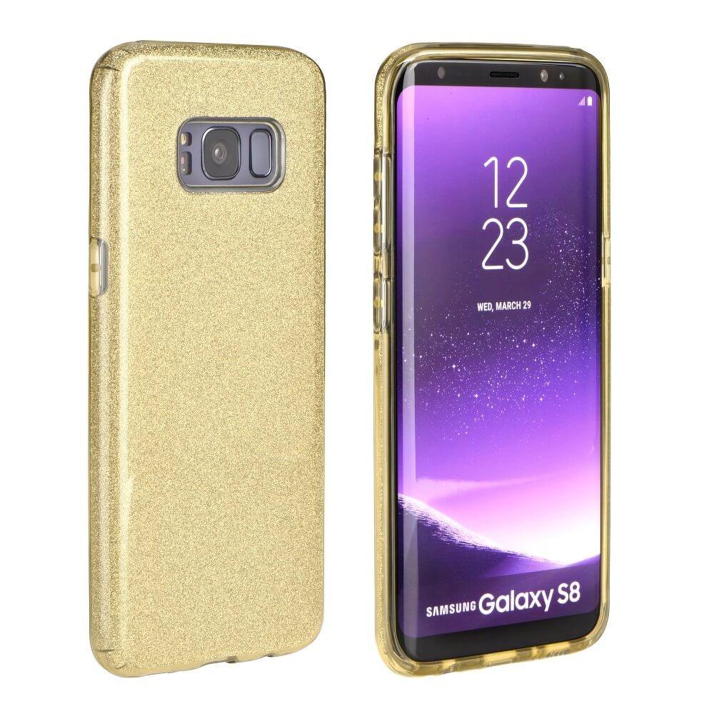 FORCELL SHINING Ochranný obal Samsung Galaxy S8 zlatý