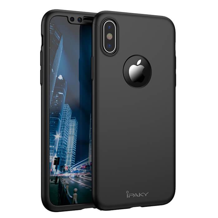 IPAKY 360° Ochraný obal Apple iPhone XS Max čierny