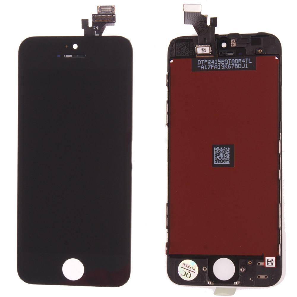 Apple iPhone 5 LCD Displej + dotyková plocha + rám AAA čierny