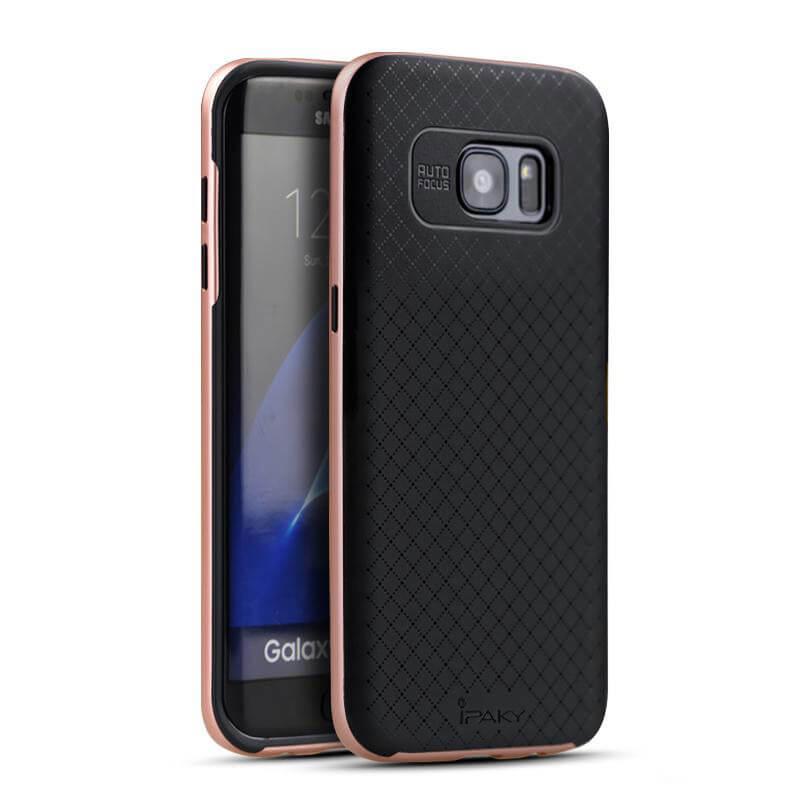 IPAKY BUMBLEBEE obal Samsung Galaxy S7 Edge ružový