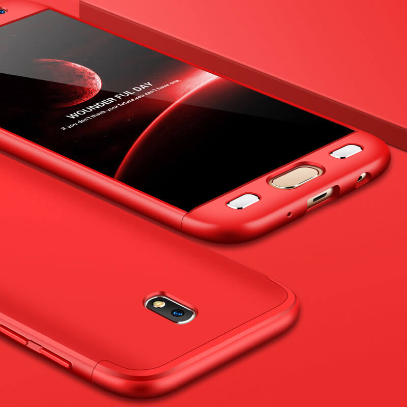 FORCELL 360° Ochraný obal Samsung Galaxy J7 2017 (J730) červený