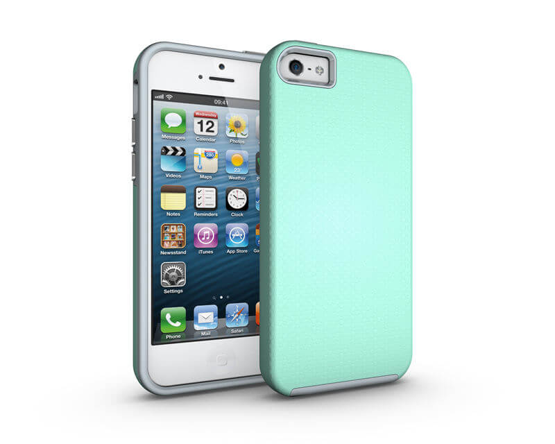 FORCELL HYBRID odolný kryt Apple iPhone 5 / 5S / SE zelený