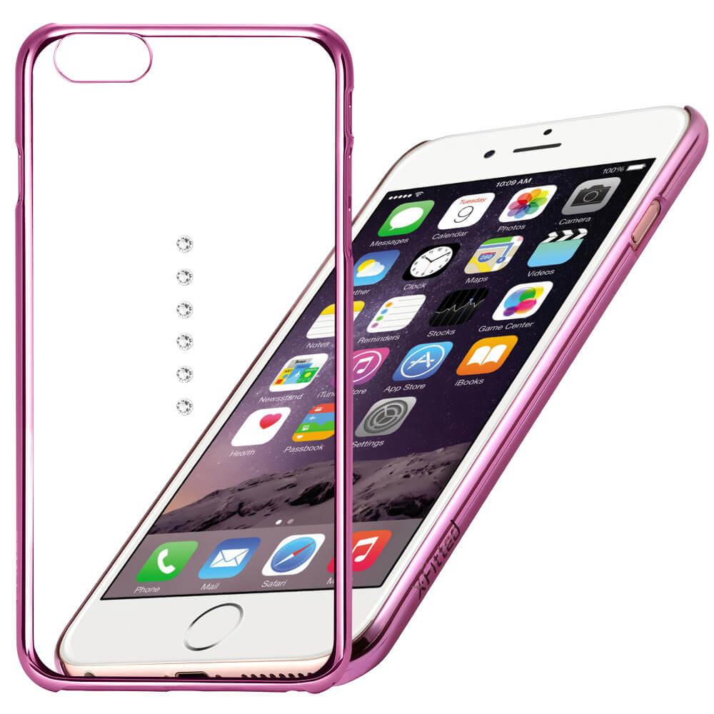 X-FITTED SWAROVSKI obal Apple iPhone 6 / 6S ružový (0004)