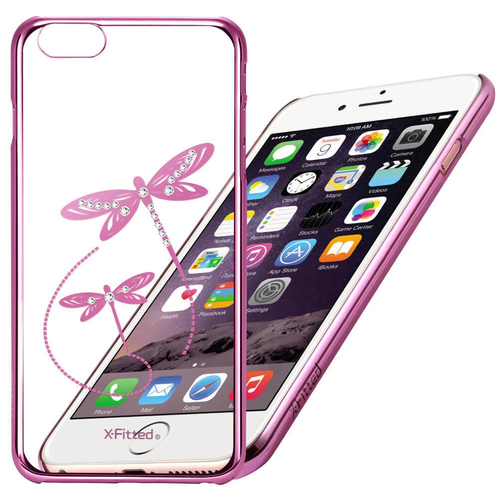X-FITTED SWAROVSKI obal Apple iPhone 6 / 6S ružový (0006)