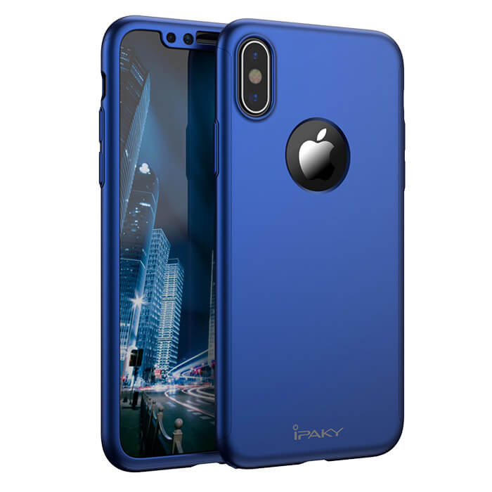IPAKY 360° Ochranný obal Apple iPhone X / XS modrý
