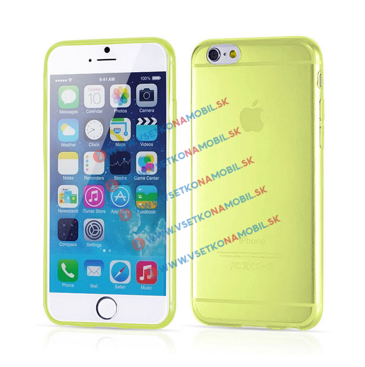 FORCELL Silikónový kryt iPhone 6 Plus / 6S Plus žltý