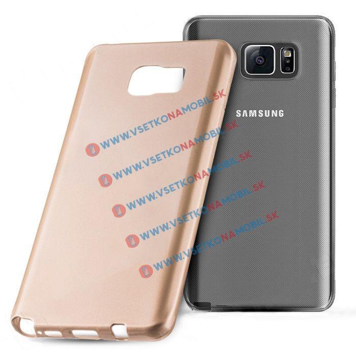 Silikónový obal Samsung Galaxy Note 5 zlatý JELLY